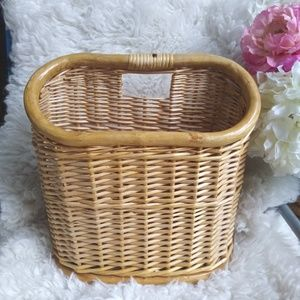 Other - 🌜 Vintage Wicker Bamboo Magazine Holder